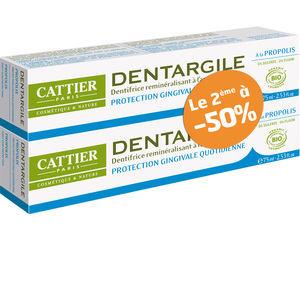 Dentifrice Dentargile propolis lot de 2 x 75 ml 288286
