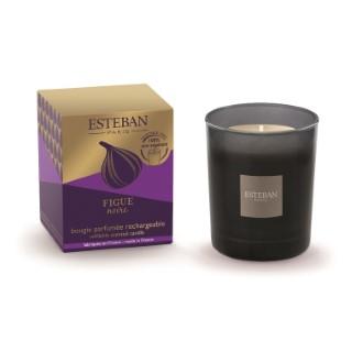 Bougie parfumée Initiale violette figue noire rechargeable 170 g 288977