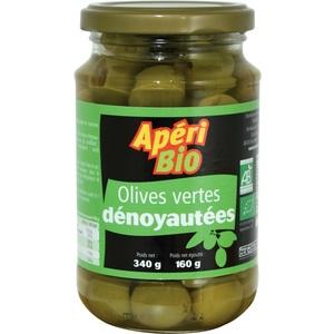 Olives vertes dénoyautées bio – 340 gr 291054