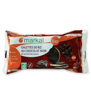 Galettes de riz au chocolat noir bio en sachet de 100 g 291205