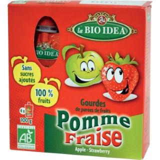 Gourdes Pomme Fraise - 4 x 100 gr 291220