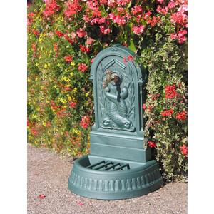 Fontaine Dauphins couleur vert antique et robinet Colvert – 87 cm de haut 291844