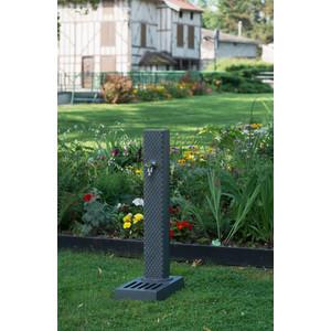 Borne-fontaine Pixel grise avec robinet ¼ de tour – 103 cm de haut 291907