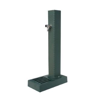 Borne-fontaine Pixel vert sable avec robinet ¼ de tour – 103 cm de haut 291917