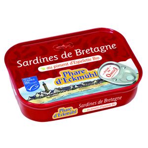 Sardines eckmuhl au piment d'Espelette bio en boite de 135 g 291992