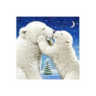 Serviettes x20 3 plis 33x33 cm Polar bear kiss 294259