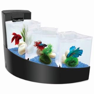 Aquarium en chute d'eau noir 7 L 295684