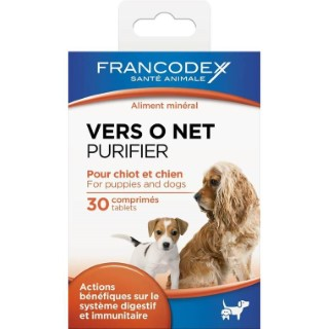 Vermifuge pour chien et chiot Vers O Net - 30 comprimés 297380