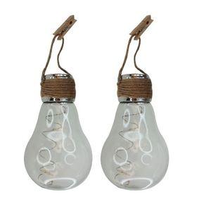 2 ampoules solaires décoratives à suspendre 297850