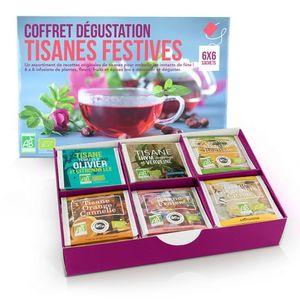 Coffret dégustation tisanes festives bio 6 x 6 sachets 298643