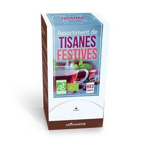 Assortiment de tisanes de fêtes bio en boite de 24 g 298644