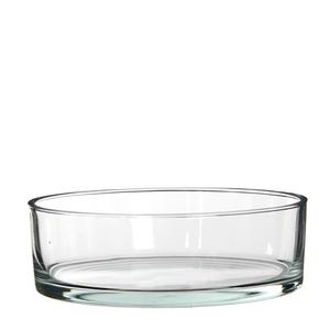 Coupe ronde Kenny en verre transparent Ø 25 x H 8 cm 298658