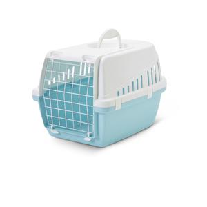 Cage de transport pour chien Trotter bleu retro 49x33x30 cm 298667