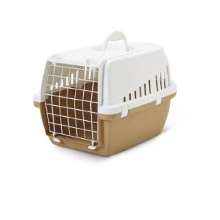 Cage de transport pour chien Trotter brun retro 49x33x30 cm 298668