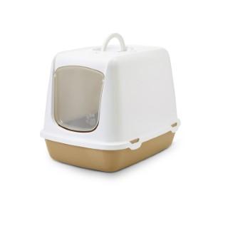 Maison de toilette pour chat Oscar rétro coloris brun 50x37x39 cm 298677