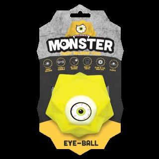 Balle pour chien Monster Ball coloris jaune 9 cm 298763