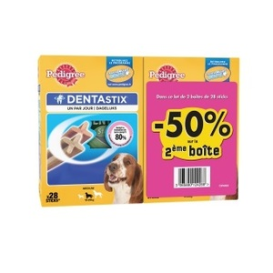 Lot Dentastix moyens chiens 2nd à 50% 298928