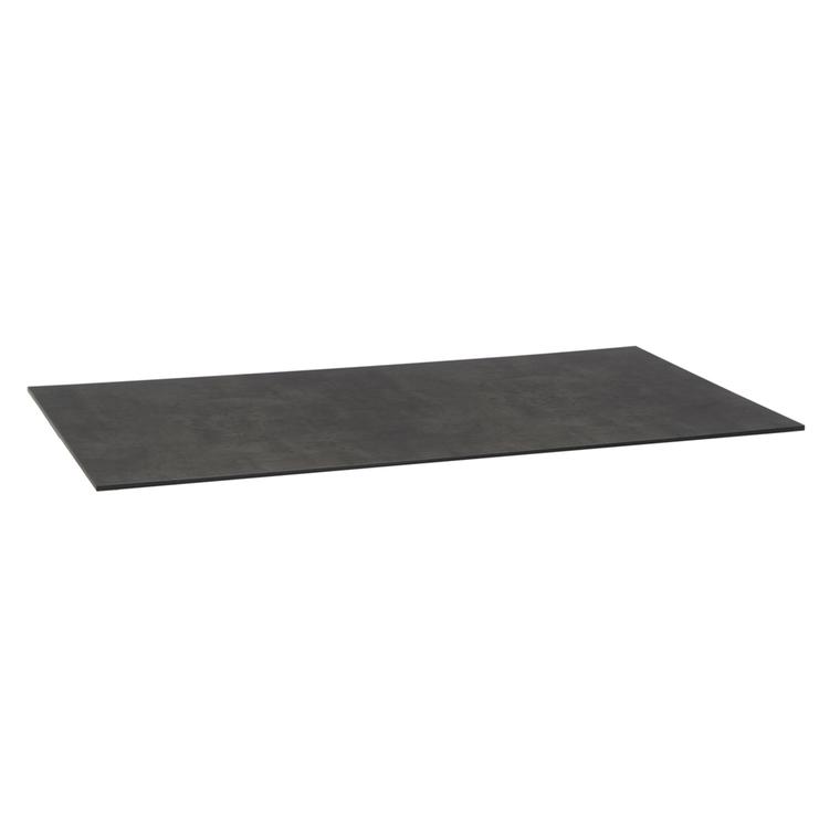 Plateau fin rectangulaire en HPL aspect ciment 200x100x1,3 ...