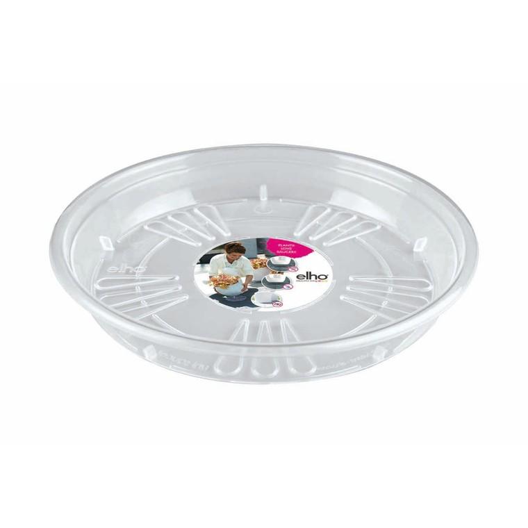 Uni soucoupe ronde Transparent L25 x H3,6 cm 201245