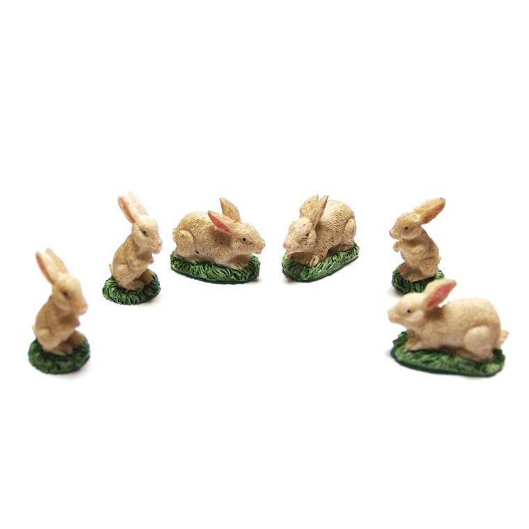 Blister de 6 lapins - 3,5 cm 201890