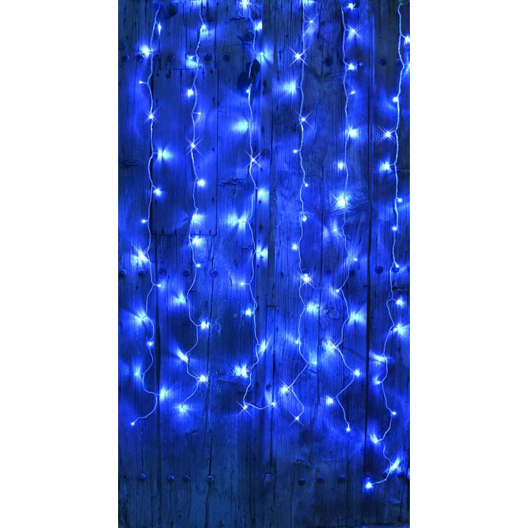 Rideau Flicker Led 96/ L2xH2 m Bleu 201915