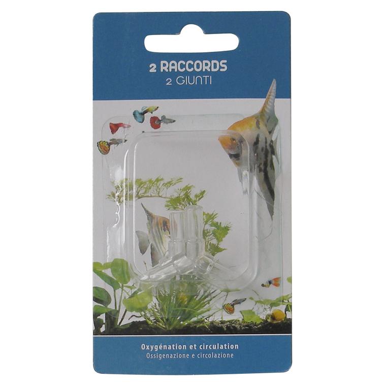 Raccord Y pour tuyaux d'aquarium x2 202648