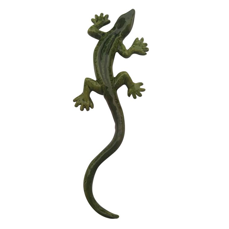 Statue de jardin lézard vert nuancé L 26 cm 203921