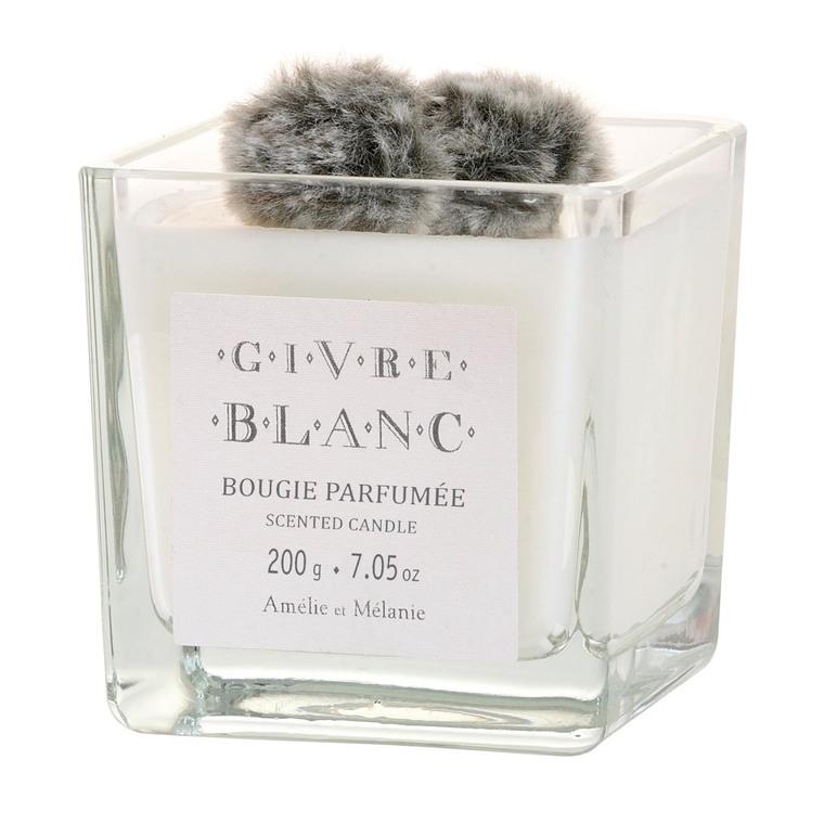 Bougie carrée parfumée Givre Blanc - 200 gr 204736