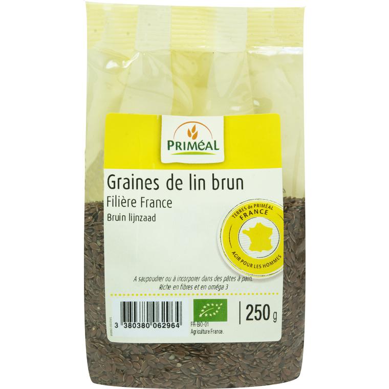 Graines de lin brun 250 g PRIMEAL 207475