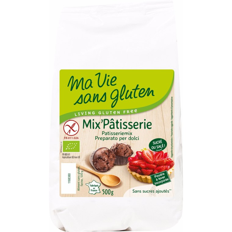 Mix pâtisserie sans gluten - 500 gr 207479