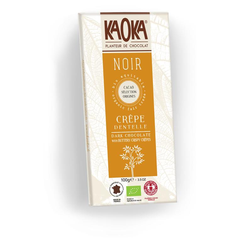 Tablette de Chocolat Noir Crêpes dentelle - 100 gr 207488