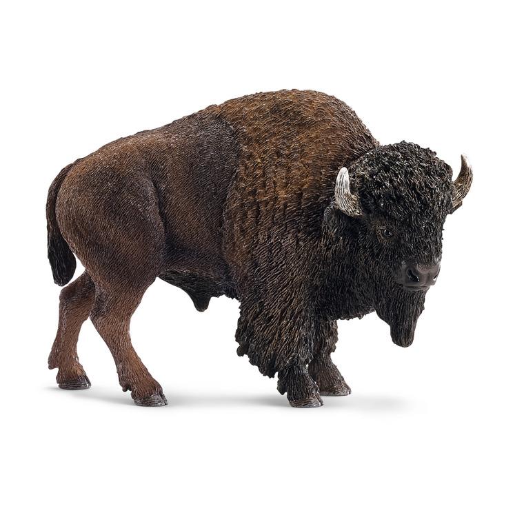 Figurine Bison Série Animaux sauvages 11x5x7,5 cm