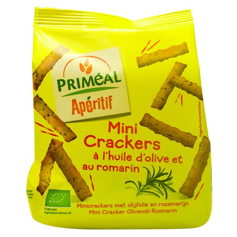 Mini crackers à l'huile d'olive et au romarin 100 g PRIMEAL 208024