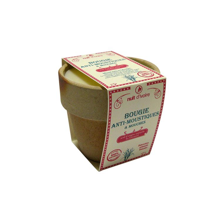 Bougie naturelle anti-moustique d'interieur 208708