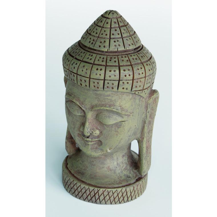 Zen Déco Buddha Face Résine 8,5x8,5x12,6 cm 209413
