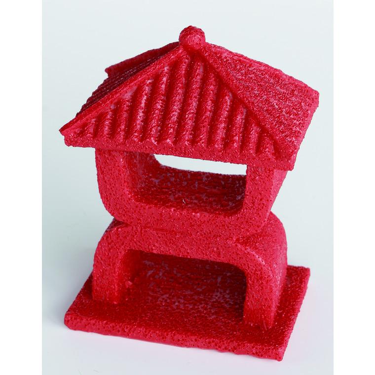 Zen Déco Mini Temple Rouge XS  Résine 8x6x10,5 cm 209418