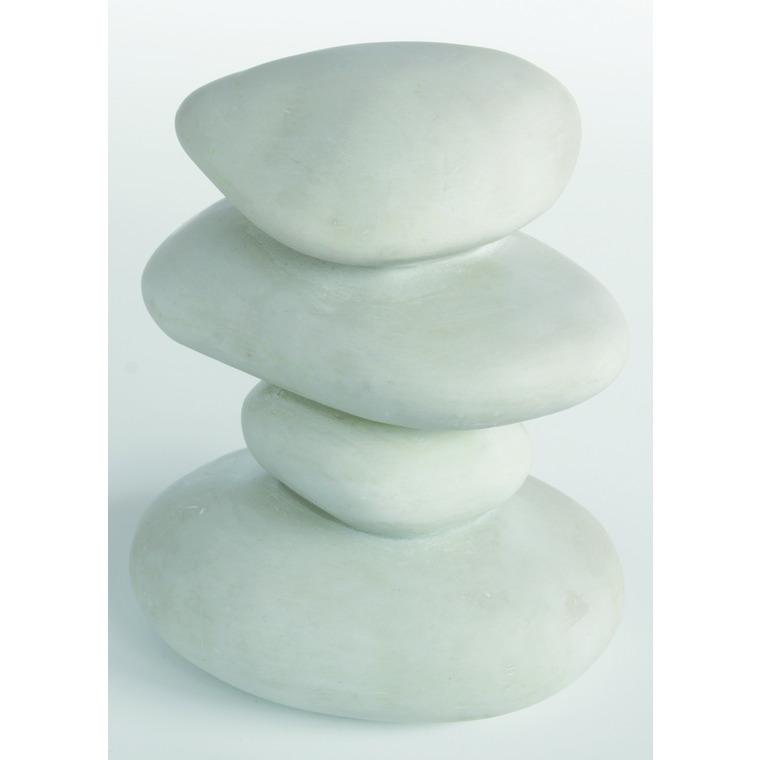 Zen Galets Blancs Résine 10,5x10,5x12 cm 209423