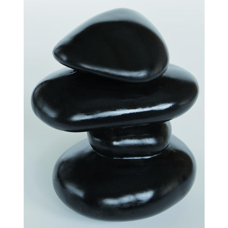Zen Galets Noirs Résine 10,5x10,5x12 cm 209424
