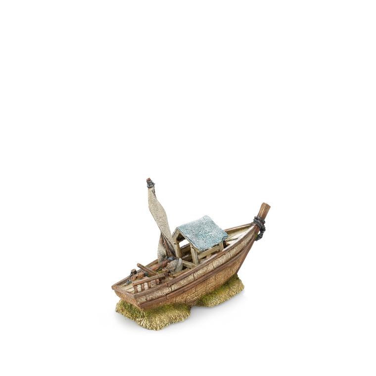 Petit bateau pour aquarium 30x11xH19,5 cm 209685