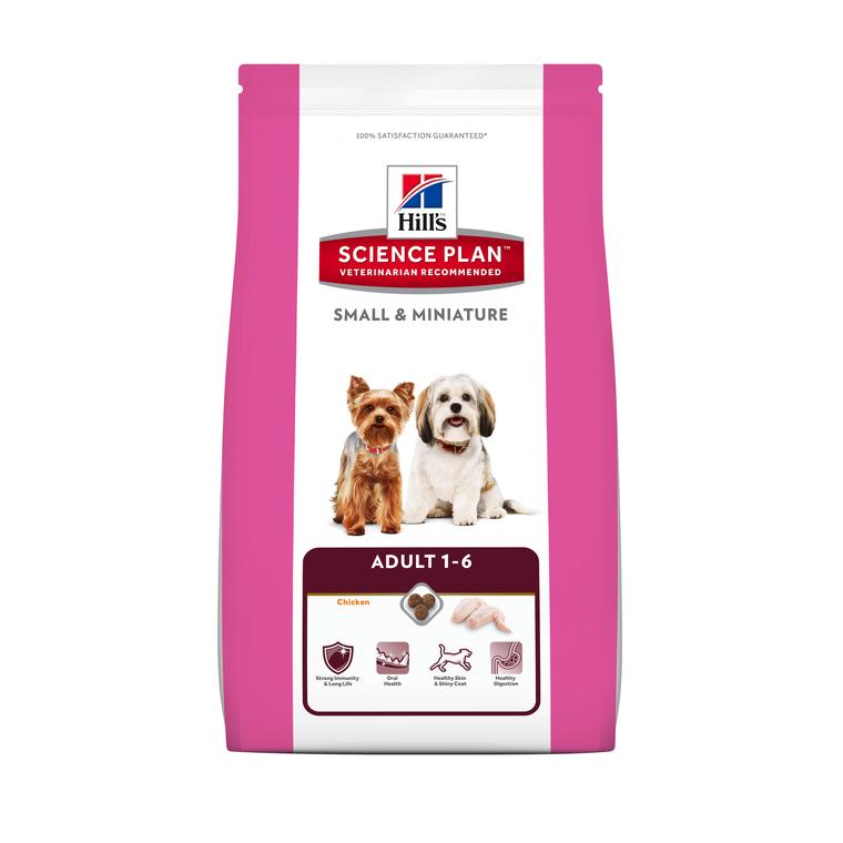 Croquettes pour petits chiens small & miniature au poulet HILL'S - 1,5 kg 210107