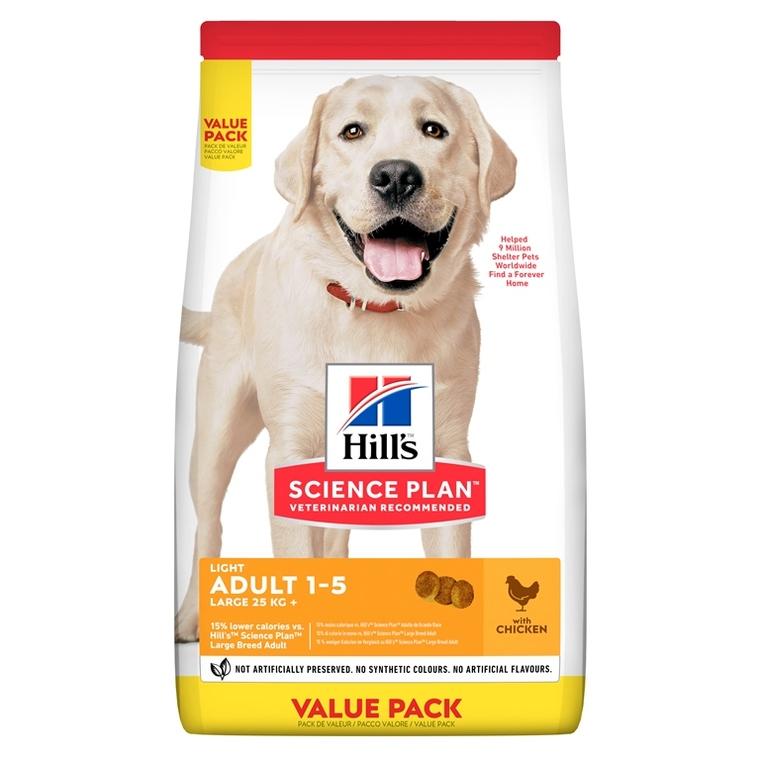 Croquettes canine adulte grandes races light 18 kg 210142