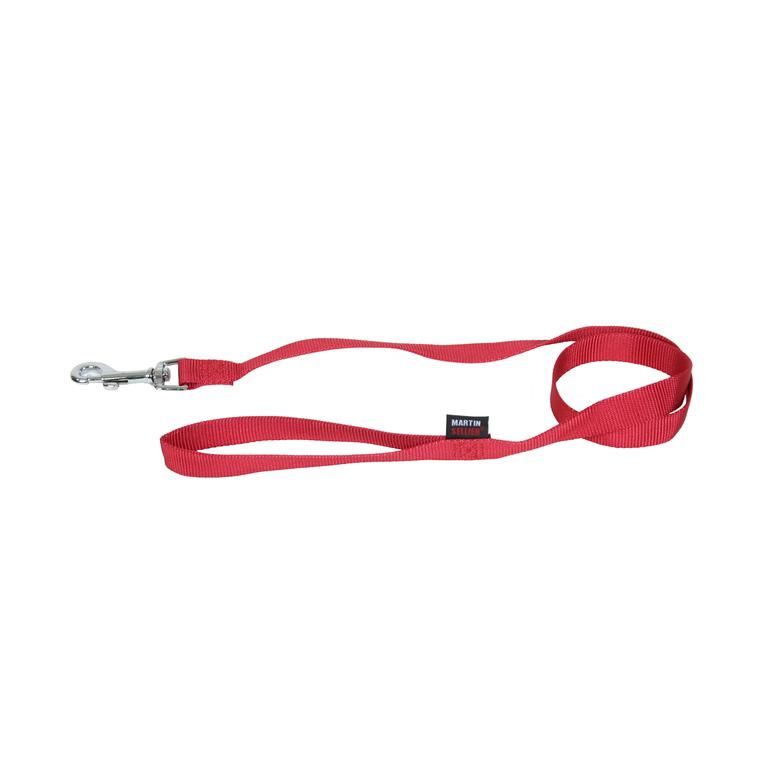 Laisse Nylon Uni pour chat coloris rouge - 120 cm 210801