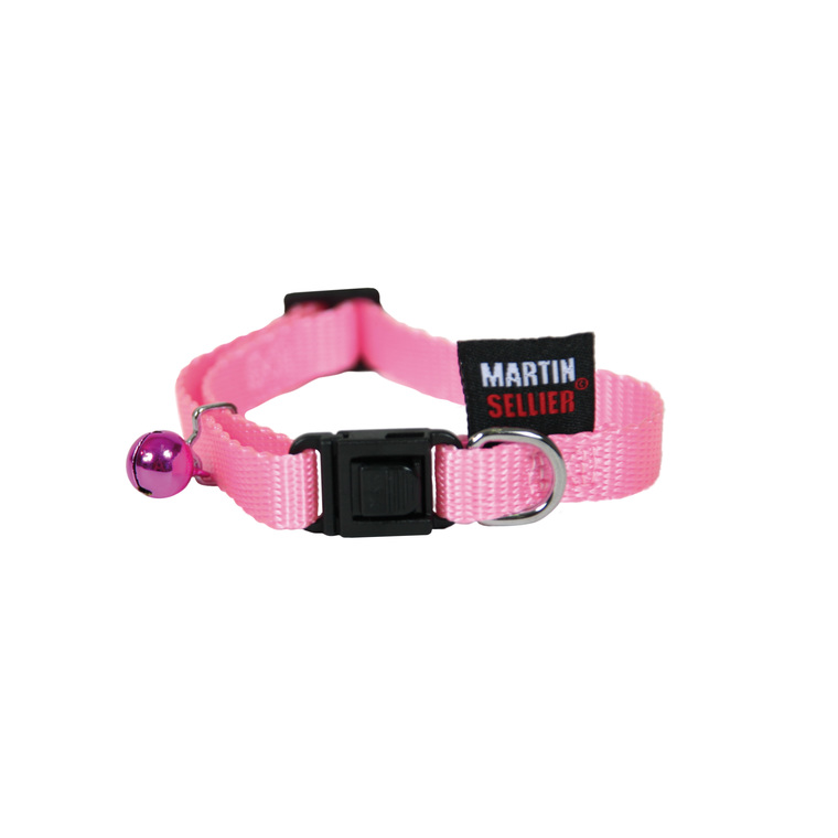 Collier chat rose 1x20/30 cm 210808