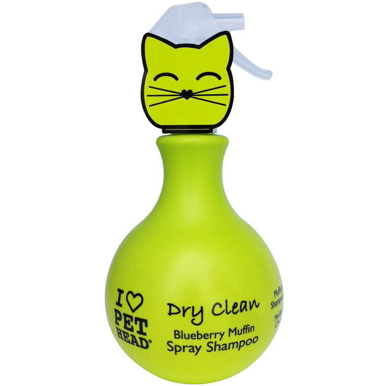 Shampooing sec en spray pour chat parfum muffin myrtille 450 ml 210916
