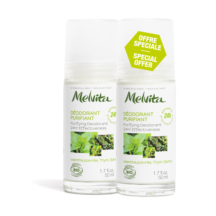 Duo déo purifiant 24h Melvita 2 x 50 ml 211917