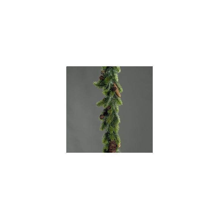 Guirlande de sapin avec pommes de pin 180 cm
