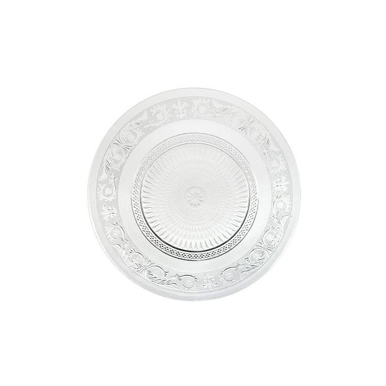 Assiette de présentation en verre décor d'arabesque Ø 33 cm