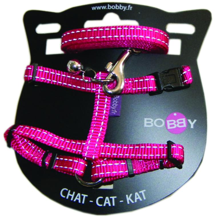 Kit harnais + laisse pour chat Safe fuchsia 214297