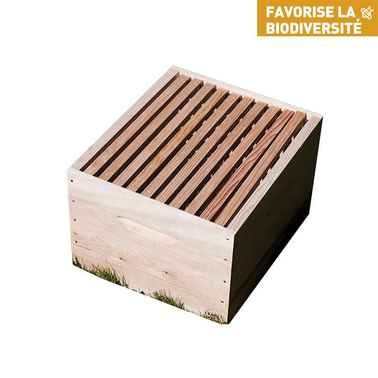 Corps de ruche avec cadres 50x43,x31,5 214733
