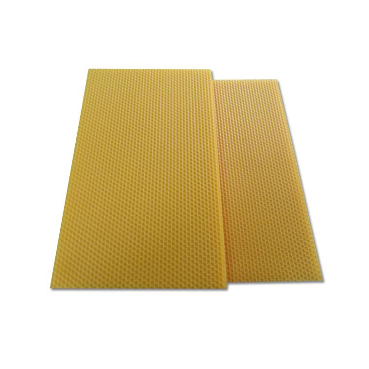 Cire gaufrée conventionnelle pour hausse de ruche 13x41 cm